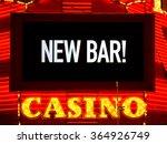 casino night light sign board... | Shutterstock . vector #364926749