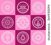 jewel line square pink logo set ... | Shutterstock .eps vector #364930094