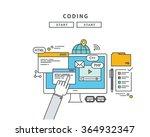 simple line flat design of... | Shutterstock .eps vector #364932347