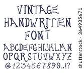 hand drawn decorative vintage... | Shutterstock . vector #364935671