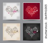set of valentine day typography ... | Shutterstock .eps vector #364941005