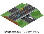 road infographics with highways ...   Shutterstock .eps vector #364944977