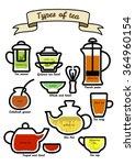 set of types tea.   Shutterstock . vector #364960154