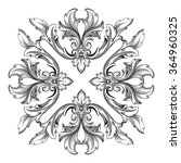 vintage baroque frame scroll... | Shutterstock .eps vector #364960325