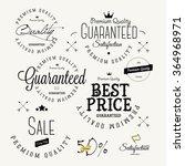 set of vintage sales label and... | Shutterstock .eps vector #364968971