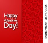 valentines day greeting card.... | Shutterstock .eps vector #364970855