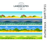 set of farm fields landscapes.... | Shutterstock .eps vector #364971911