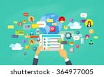 mobile application development  ... | Shutterstock .eps vector #364977005