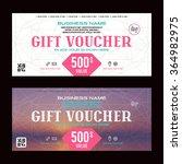 gift voucher template. printed... | Shutterstock .eps vector #364982975