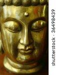 Golden Portrait Of Holy Buddha