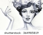 watercolor illustration showing ... | Shutterstock . vector #364985819