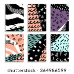 collection hand drawn abstract... | Shutterstock .eps vector #364986599