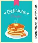 Retro Vintage Pancake Poster...