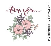 """hand drawn lettering """"for you""""... 