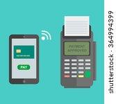 nfc payment flat design style... | Shutterstock .eps vector #364994399