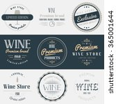 wine drink labels set. brands... | Shutterstock .eps vector #365001644