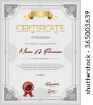 certificate of completion... | Shutterstock .eps vector #365003639