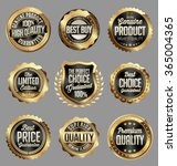gold and black badge. luxury... | Shutterstock .eps vector #365004365
