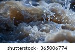rapid stream of muddy river | Shutterstock . vector #365006774