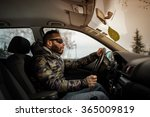 driving a car | Shutterstock . vector #365009819