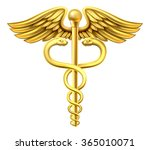a gold caduceus medical symbol... | Shutterstock .eps vector #365010071