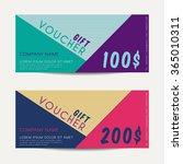 gift voucher template   vector...   Shutterstock .eps vector #365010311