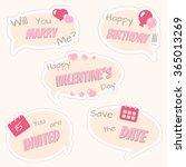 cloud conversation stickers... | Shutterstock .eps vector #365013269