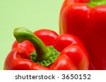 close up of a red paprika