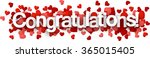 congratulations 3d sign with...   Shutterstock .eps vector #365015405