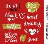 happy valentines day. set of...   Shutterstock .eps vector #365015861
