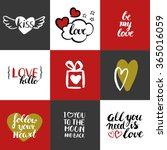 happy valentines day template... | Shutterstock .eps vector #365016059