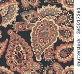 floral seamless pattern with... | Shutterstock .eps vector #365017361