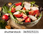 fresh salad made of tomato ... | Shutterstock . vector #365025221