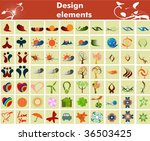 collection of design elements... | Shutterstock .eps vector #36503425
