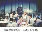 business people meeting... | Shutterstock . vector #365047115