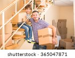 family moving into a new house | Shutterstock . vector #365047871