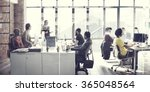 business team meeting working... | Shutterstock . vector #365048564