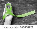 lime green color ribbon raising ... | Shutterstock . vector #365050721