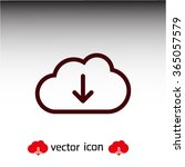cloud download  linear icon....
