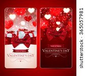 set of two red valentines day... | Shutterstock .eps vector #365057981