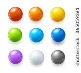 Rainbow Balls Set On A White...