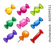 funny cartoon colorful candies...