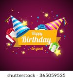 birthday card or flyer or... | Shutterstock .eps vector #365059535
