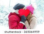 Winter Valentine Couple In Ice...