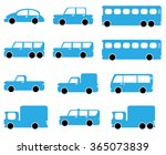 car icons | Shutterstock .eps vector #365073839