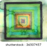 green and black abstract... | Shutterstock . vector #36507457