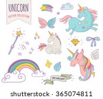 cute magic collection with... | Shutterstock .eps vector #365074811