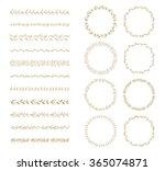 vector brush and laurel wreath... | Shutterstock .eps vector #365074871