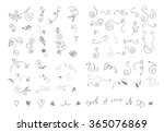 doodle design elements flowers  ... | Shutterstock .eps vector #365076869