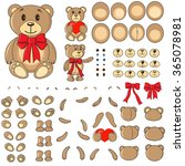 body parts of a bear in the...   Shutterstock .eps vector #365078981